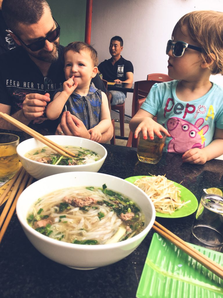 Pho Lunch in Saigon with Kids