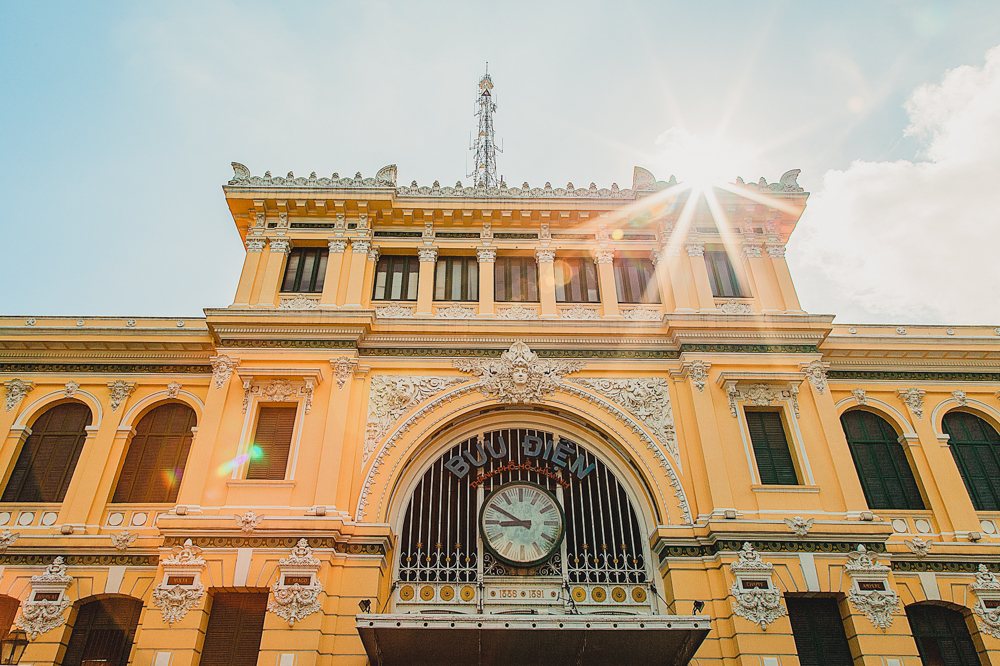 Saigon Central Post Office Facade